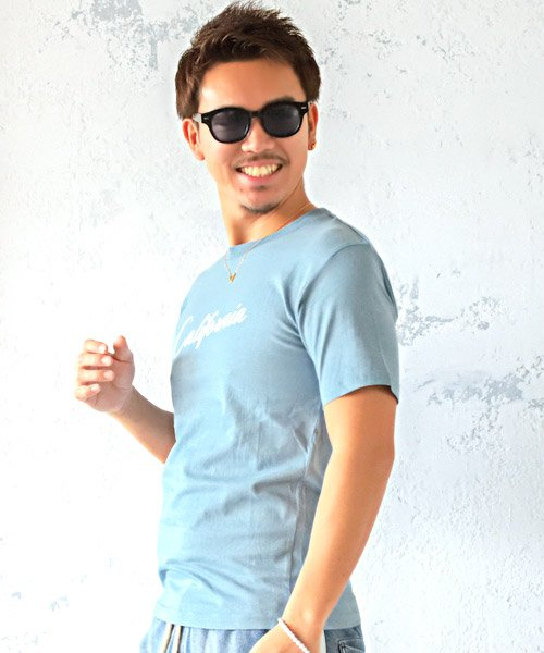 LUXSTYLE(ラグスタイル)/Californiaロゴプリント半袖Tシャツ/pm-8180