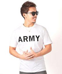 LUXSTYLE/ARMYロゴプリント半袖Tシャツ/501963692