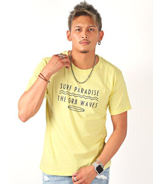 LUXSTYLE(ラグスタイル)/サーフテイストロゴプリント半袖Tシャツ/Tシャツ メンズ 半袖 ロゴ プリント/pm-8185