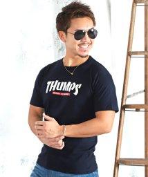 LUXSTYLE/THUMPSロゴプリント半袖Tシャツ/501963698