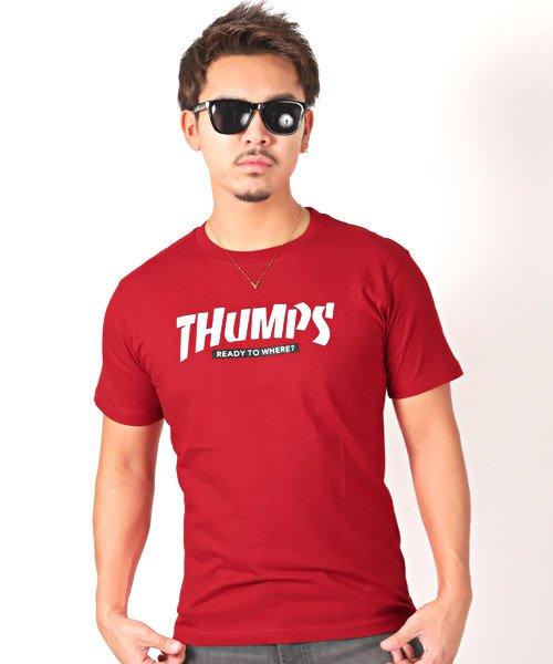LUXSTYLE(ラグスタイル)/THUMPSロゴプリント半袖Tシャツ/pm-8189