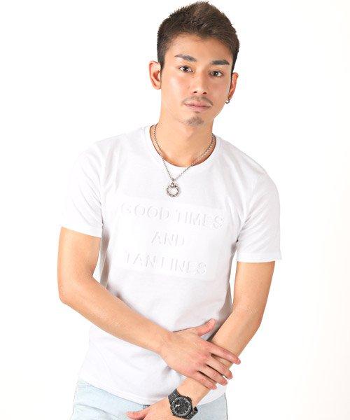 LUXSTYLE(ラグスタイル)/エンボス加工半袖Tシャツ/pm-8219