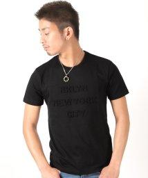 LUXSTYLE/エンボス加工半袖Tシャツ/501963702