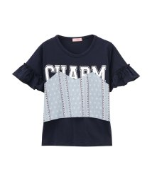 MAC HOUSE(kid's)/Navy フェイクビスチェTシャツ NV-G 670-4855/501987219