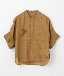 MACPHEE/フレンチリネン ハーフスリーブシャツ/501995070