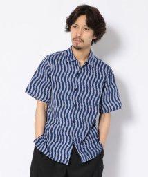 BEAVER/BOHEMIANS/ボヘミアンズ BLUE IKAT S/S ALOHA SHIRTS/半袖シャツ/501995106