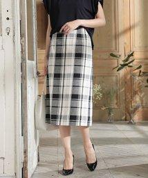 NATURAL BEAUTY/◆[WEB限定商品]ビッグチェックロングタイトスカート/501995240