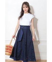Mystrada/【MAGASEEK/d fashion限定カラー】カットワークリネンスカートSET/501996396