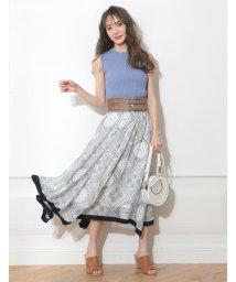 Rirandture/【美人百花5月号掲載】ベルト付きスカーフ柄スカート/501997445