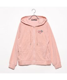 GUESS/ゲス GUESS PILE ZIP UP HOODED PARKA (PINK)/501998130