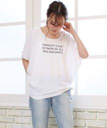 SocialGIRL/ワイドスリーブドルマンTシャツ 無地/ロゴ/ボーダー/500955716