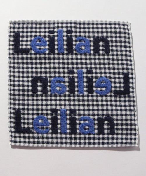 Leilian(レリアン)/ロゴ刺繍タオルハンカチ/0900890