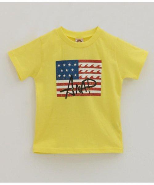 ANAP KIDS(アナップキッズ)/USAフラッグプリントTEE/0437700016
