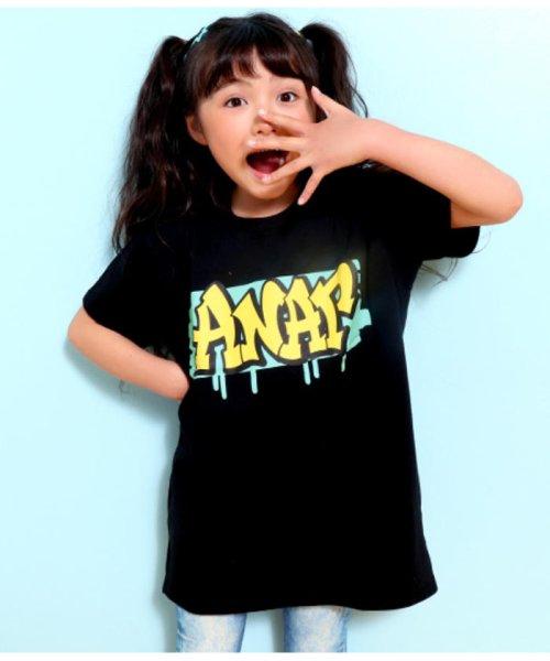 ANAP KIDS(アナップキッズ)/グラフィティプリントBIG-Tシャツ/0437800021