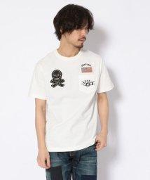 Schott/【直営店限定】POCKET T-SHIRT SKULL PATCH/スカル パッチ ポケットTシャツ/501998603