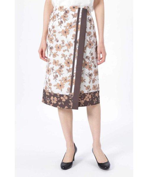 NATURAL BEAUTY(ナチュラル ビューティー)/◆[ウォッシャブル]スカーフエッジフラワースカート/0189120507