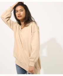 AZUL by moussy/SWEAT V/N LOOSE TUNIC/501999150