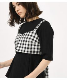 AZUL by moussy/GINGHAM CHECK BUSTIER TOPS/501999157