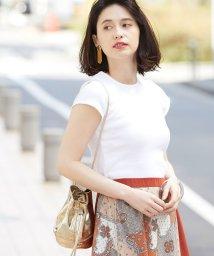 ROPE' mademoiselle/【洗える】ソフトコットンリブクルーネックTシャツ/501999214