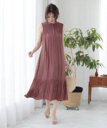 Lily Brown/シャーリングフレアワンピース/502000175
