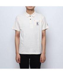 STYLEBLOCK/スタイルブロック STYLEBLOCK コットン天竺バック刺繍4釦ポロシャツ (オフホワイト)/502001086