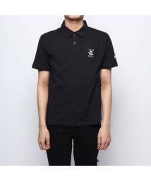 STYLEBLOCK/スタイルブロック STYLEBLOCK コットン天竺バック刺繍4釦ポロシャツ (ダークグレー)/502001087