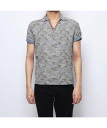 STYLEBLOCK/スタイルブロック STYLEBLOCK 綿カノコカモフラプリントPU使いポロシャツ (ミックスグレー)/502001099
