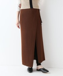 SLOBE IENA/TAN SOFTSHINY WRAPPEDロングスカート/502001279