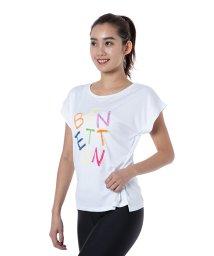 BENETTON (women)/ベネトンカラフルロゴ半袖ラッシュTシャツ・ラッシュガード(UV加工UPF50+)/501989245