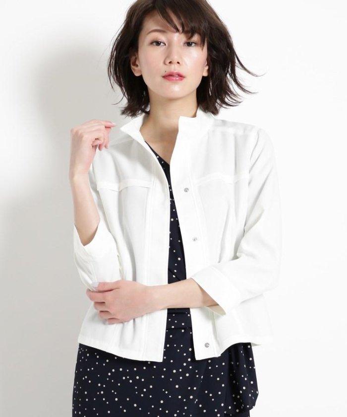 【洗える】リネン調シャツジャケット