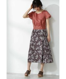PROPORTION BODY DRESSING/ハートフローラプリントサイドプリーツスカート/502002169