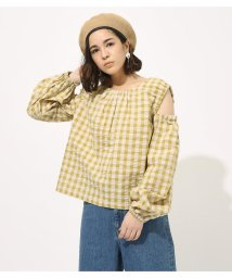 AZUL by moussy/GINGHAM OPEN SHOULDER TOPS/502002315