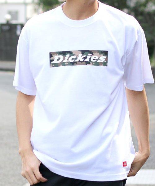 【別注】【Dickies】ディッキーズ ストリートボックスロゴ 半袖Tシャツ