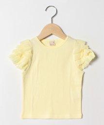 petit main/袖ティアードチュールTシャツ/501987607