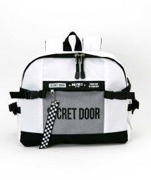 SECRET DOOR/メッシュ×ロゴ横型リュックマンゴ/501902792