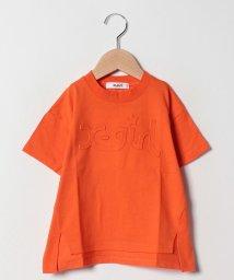 X-girl Stages/ワキ切り替えミルズロゴTシャツ/501987620