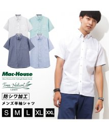 MAC HOUSE(men)/Free Nature Linen リネン混半袖シャツ 391109MH/502003729