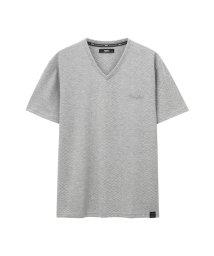 MAC HOUSE(men)/MOSSIMO ジャガードVネックTシャツ 9274-0745/502003738