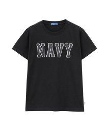 MAC HOUSE(kid's)/Navy ボーイズ フェルトロゴTシャツ EJ193-KB090/502003771