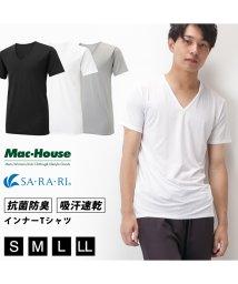 MAC HOUSE(men)/SARARI プラチナ加工Vネック SA-1002/502003781