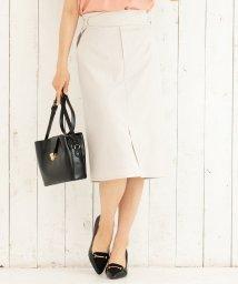 ViS/【EASY CARE&COOL TOUCH】ベルト付きIラインスカート/502004448
