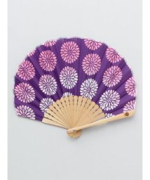 KAYA/【カヤ】レトロ花扇子 袋付き/502005892