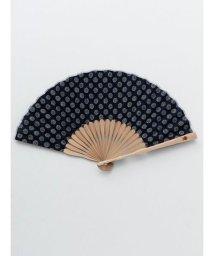 KAYA/【カヤ】紳士用 藍色小紋扇子 袋付き/502005899