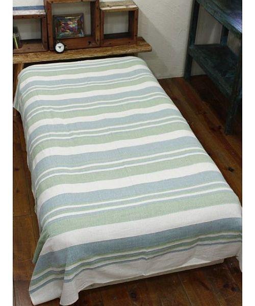 CAYHANE(チャイハネ)/【チャイハネ】インド綿ボーダー柄ベッドカバー シングルサイズ/2598592540106