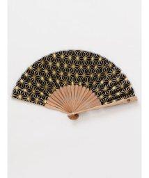 KAYA/【カヤ】紳士用 金線麻の葉扇子 袋付き/502007912