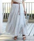 Bou Jeloud/【WEB限定】インド綿3段ティアードスカート/501980919