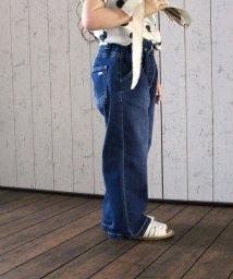 L.COPECK/ガールライトデニムワイドパンツ(150~160cm)/501994281