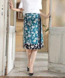 NATURAL BEAUTY/◆[ウォッシャブル]スカーフエッジフラワースカート/501999015
