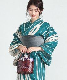 titivate/よろけ縞柄綿麻単品浴衣/502009218