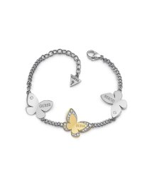 GUESS/ゲス GUESS LOVE BUTTERFLY THREE BUTTERFLY CHARMS BRACELET (SILVER & GOLD) (SILVER /502010263